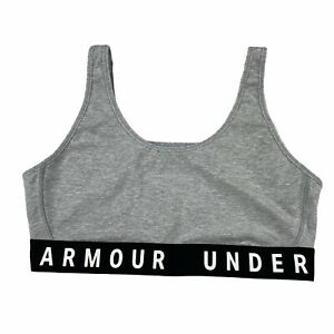 Under Armour Fitted Mid Impact Sports bra Grey Size Large