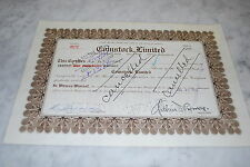 STOCK CERTIFICATE - COMSTOCK LIMITED – NEVADA 1931
