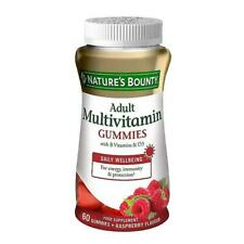 NATURE'S BOUNTY Adult Multivitamin with B Vits & D3 - Energy Immunity 60 Gummies