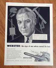 1949 Webster Cigars Ad  Frank H Young Founder American Academy Art Chicago IL