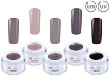 LIGHT NUDE Collection 5x Color Farb Gel SET UV LED GEL Nail Art French Nagel