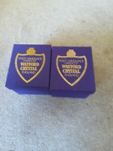 2 X Watford Cut Crystal  Tumblers 1 X Large 1x Small Excellent  Unused ...
