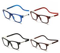 Foldable Neck hang magnetic Reading glasses +1.00-4.00 Reader Women Men