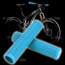 2x Light Blue OE Style BMX Non Slip Soft Rubber Bicycle Handle Bar Grip Covers