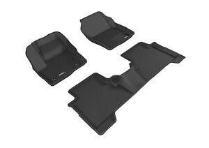 3D MAXpider Floor Liners Kagu Black For 15-19 Ford Escape