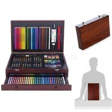 Drawing and Painting Wood Art Set 142-Piece with Case Pencils Crayons Pastels