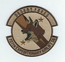 "737th EXPEDITIONARY AIRLIFT SQUADRON ""DESERT FOXES"" !!THEIR LATEST!!DESERT patch"