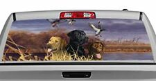Truck Rear Window Decal Graphic [Dogs / Labs In Marsh] 20x65in DC71403