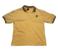 Vintage 80s Retro Jantzen Sport Men's Polo Shirt Yellow 100% Cotton Size L
