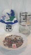 "VTG 1980 Lake Placid Winter Olympics Stocking Pom Hat & 8"" Training beer Mug"