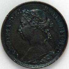 Great Britain Farthing 1884. KM 753. XF/AU, woodgrain toned reverse