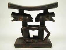 GothamGallery Fine African Art - DRC Luba Caryatid Tribal Headrest - B