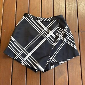 Keepsake Size XS Shorts Black White Check Layered Business Cocktail