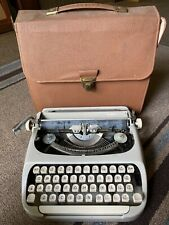 Royal Citadel Manual Portable Typewriter With Leather Case 1963