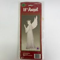Vintage 1988 Beistle 18in Hanging Angel Christmas Holiday Art Tissue 22995 NOS