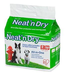 """IRIS USA Neat 'n Dry Premium Pet Training Pads, Regular, 17.5"""" x 23.5"""", 50 White"""