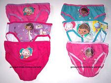 Disney Doc McStuffins Mädchen Slips 3er Pack Gr. 92/98 104/110 116/122