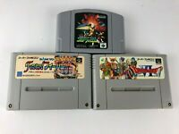 Lot of JP Games 2 Super Famicon Fever! Fever! & Dragon Quest VI 6 & Starfox N64