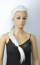 Hot Sell White Long Straight Pigtail Ponytail Women's Lady's Hair Wig Wigs + Cap