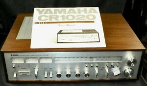 Yamaha CR-1020 Natural Sound Stereo Receiver With Manual very low hours  clean