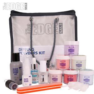 The Edge NAILS FULL Quick Nails COLOURED Acrylic DIPPING Powders Kit-False Nails