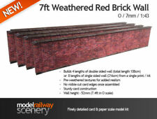 Decoración y piezas de escala 0 rojos para modelismo ferroviario