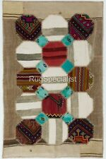 Anatolian Hexagon Design Patchwork Rug Made from Vintage Village Kilim Rugs
