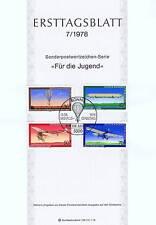 BRD 1978: Luftfahrt! Ersttagsblatt Jugendmarken Nr 964-967! Bonner Stempel! 153