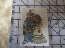 Boyds Bear Collection Uptown Rubber Stamp Grenville & Beatrice True Love  Bride