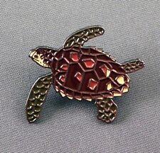 Metal Enamel Pin Badge Brooch Turtle Sea Ocean Marine Reptile Creature Shell