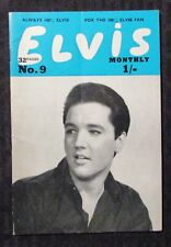 1963 ELVIS Presley Monthly v.4 #9 UK Fan Digest Magazine VG+ 4.5