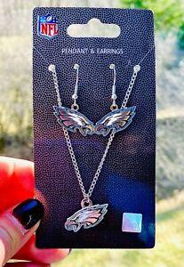 Philadelphia Eagles Earrings & Necklace Set