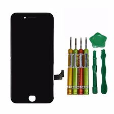 "LCD For iPhone 7 4.7"" Screen Digitizer Touch Display JET Black Assembly Replacem"