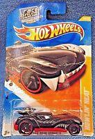 2010 Hot Wheels #29 New Models 29/44 HOWLIN' HEAT Black w/Black OH5 Sp '11 Card