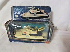 Dachbodenfund-Vintage Dickie 1082 Polizei-Einsatzboot in original Verpackung
