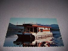 1960s Waterways Houseboats Ltd. Sicamous Bc. Vtg Postcard