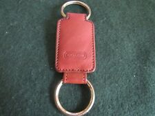 Coach leather double end valet key ring tan key fob (T3)