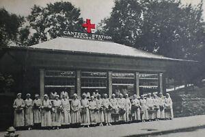 1918 Canteen Station, Roanoke Virginia Postcard