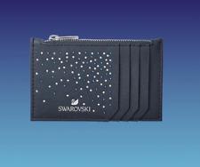 New in Box Swarovski Wallet Card Holder Case Black Clear Blue Crystal #5576930