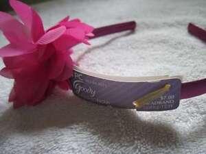 Goody Luxe Fashionow Layered Chiffon Flower Jewel Center Silky Hair Headband