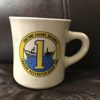 Vintage Cruiser Destroyer Group One Mug USN US Navy Military Ceramic Coffee