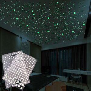 Glow In Dark Stars Dots Fluorescent Bubble Sticker 3D Luminous Decal Wall Art