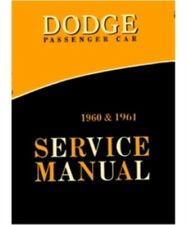 Factory Shop - Service Manual for 1960-1961 Dodge B-Body C-Body