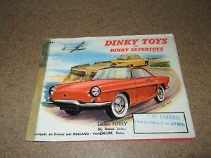 246Q Catalogo Originale Dinky Toys E Supertoys 1960 Meccano Timbro Neonato