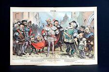 Shakesperian Revival 1881 KING CHESTER ARTHUR Grant Gould SHAKESPERES Henry IV