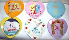 Coffret de 6 assiettes PHILIPPE DESHOULIERES porcelaine AUCA Salvador DALI