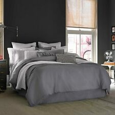 Kenneth Cole Reaction Home Full Queen Size Duvet Cover in Gunmetal - NEW