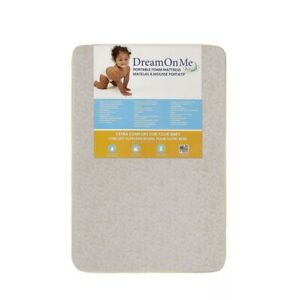 Dream On Me, 3 Inch Foam Pack and Play Mattress, White