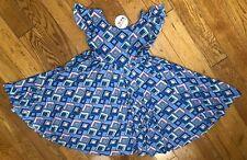 NWT Dot Dot Smile Twirly Summer dress Girls Empire Blue purple geometric
