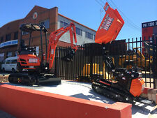 TIGHT ACCESS 1.7 TON MINI EXCAVATOR + MINI DUMPER DRY HIRE - 3 BUCKETS & TRAILER